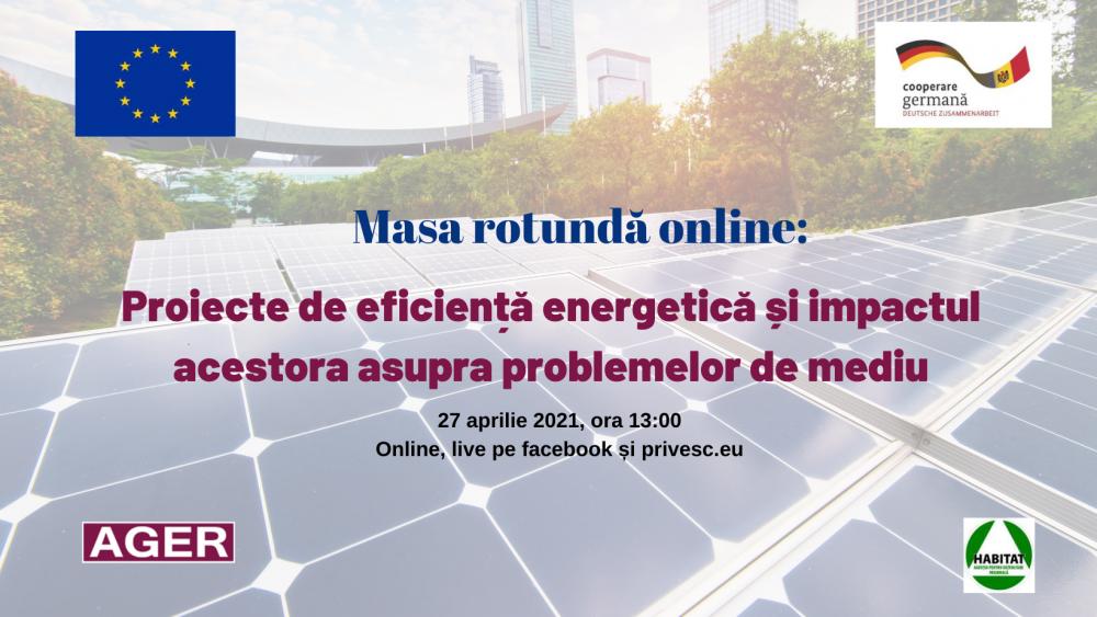 UE // Proiecte de eficiență energetică și impactul acestora asupra problemelor de mediu – tema celei de-a treia mese rotunde, realizată în cadrul Programului de granturi locale din Regiunea de dezvoltare Centru