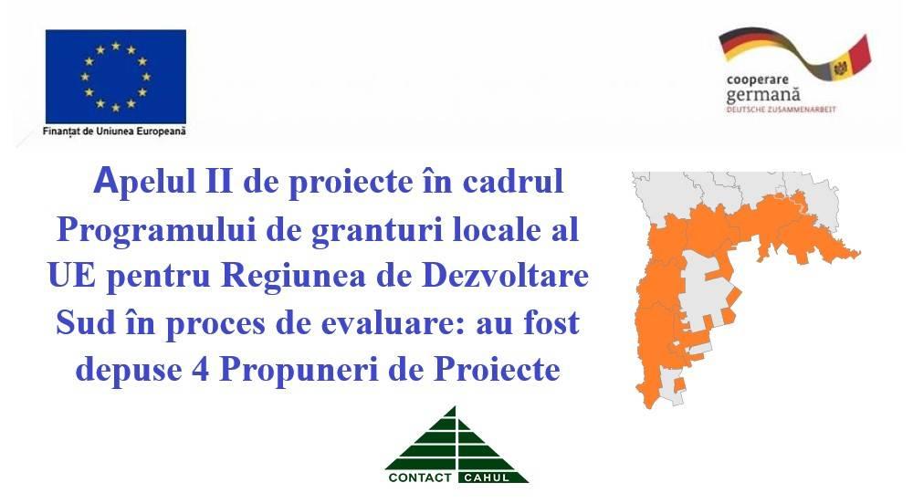Apelul II de proiecte în cadrul Programului de granturi locale al UE pentru Regiunea de Dezvoltare Sud este în proces de evaluare