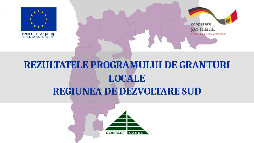 Uniunea Europeană a aprobat lista proiectelor selectate pentru finanțare în cadrul Programului de Granturi Locale din Regiunea de Dezvoltare Sud