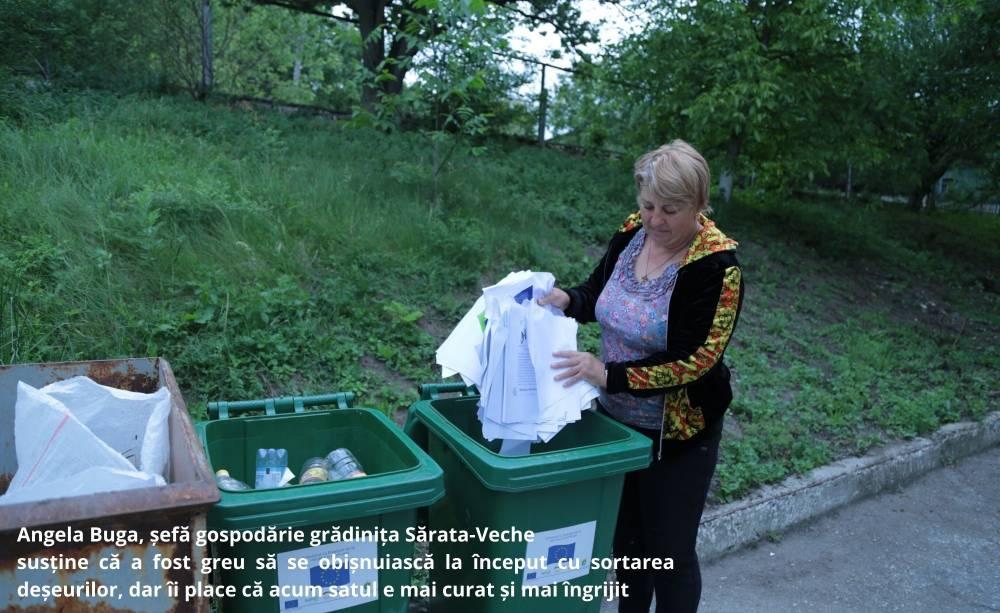 Жители Сэрата-Веке идут в ногу с европейскими нормами по раздельному сбору отходов
