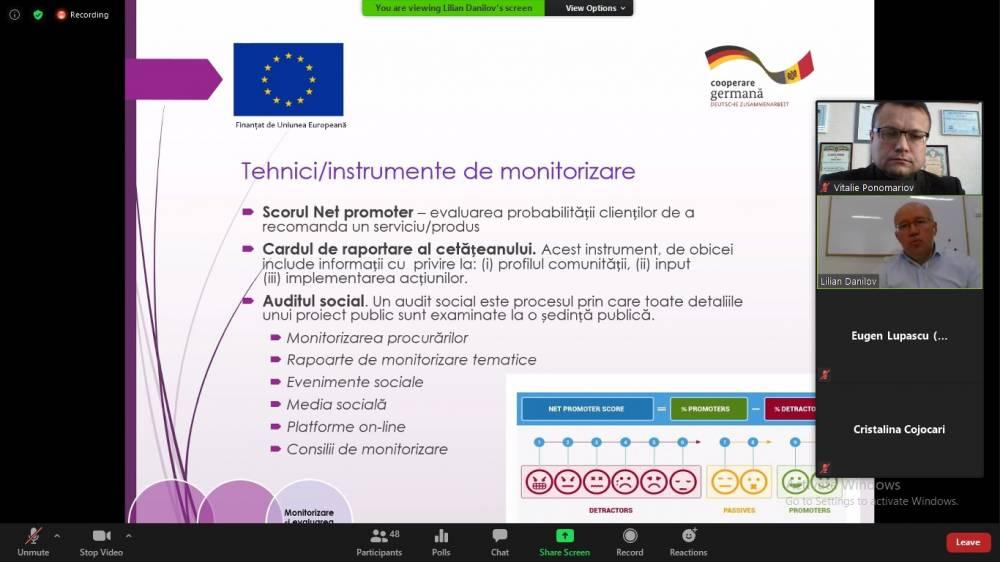 Beneficiarii Programului de granturi al UE și-au consolidat capacitățile în domeniul planificării participative a serviciilor publice locale
